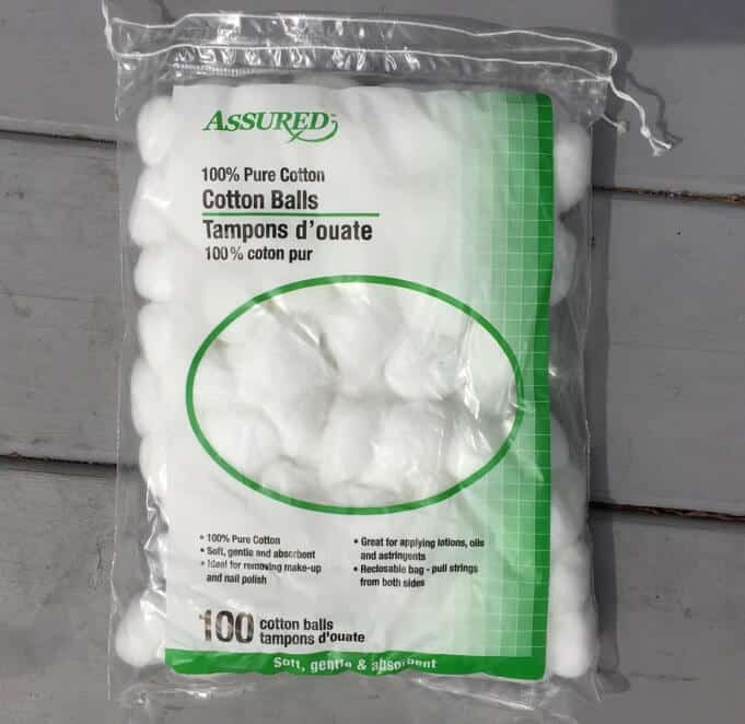 Cotton Balls for Tick Tubes