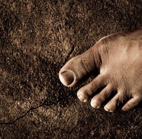 Foot on earth