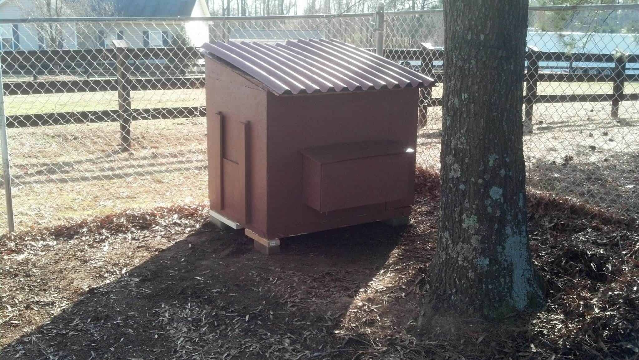 Small Chicken Coop with Flip Top Roof