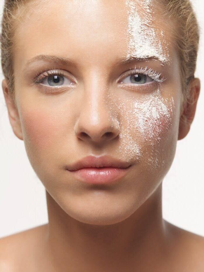 Diatomaceous earth skin treatment