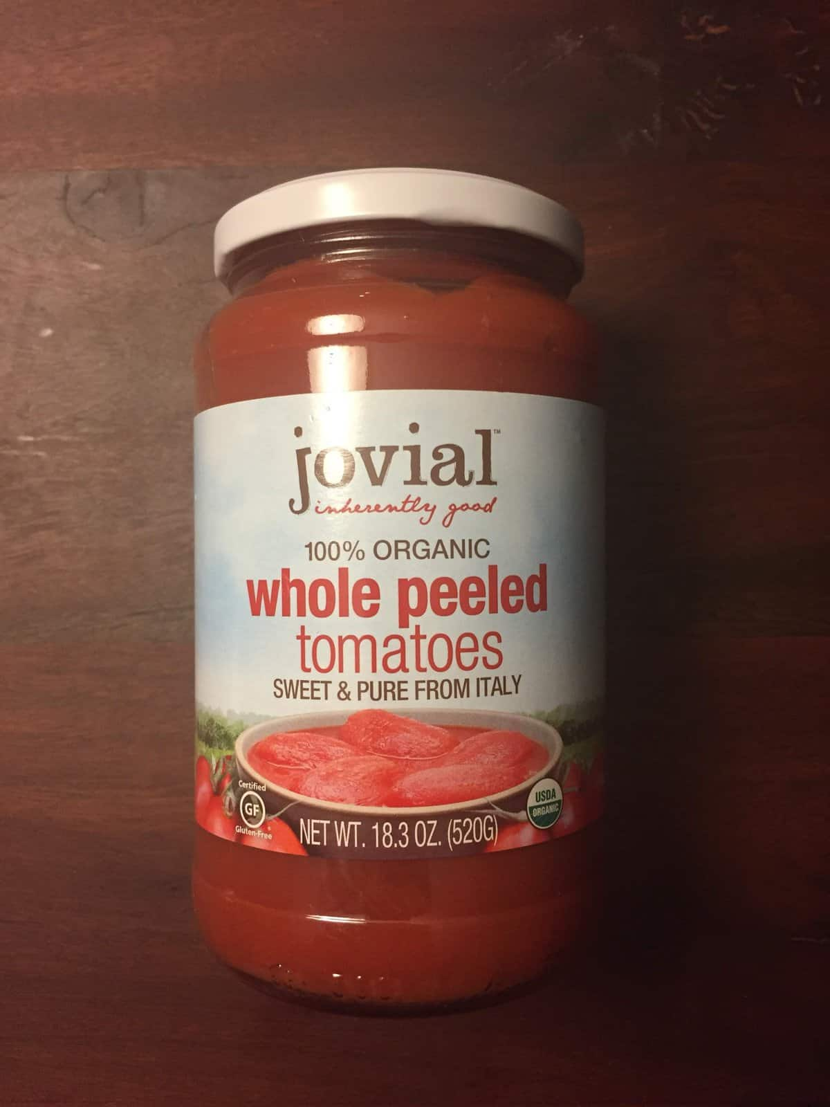 Jovial Organic Whole Peeled Tomatoes
