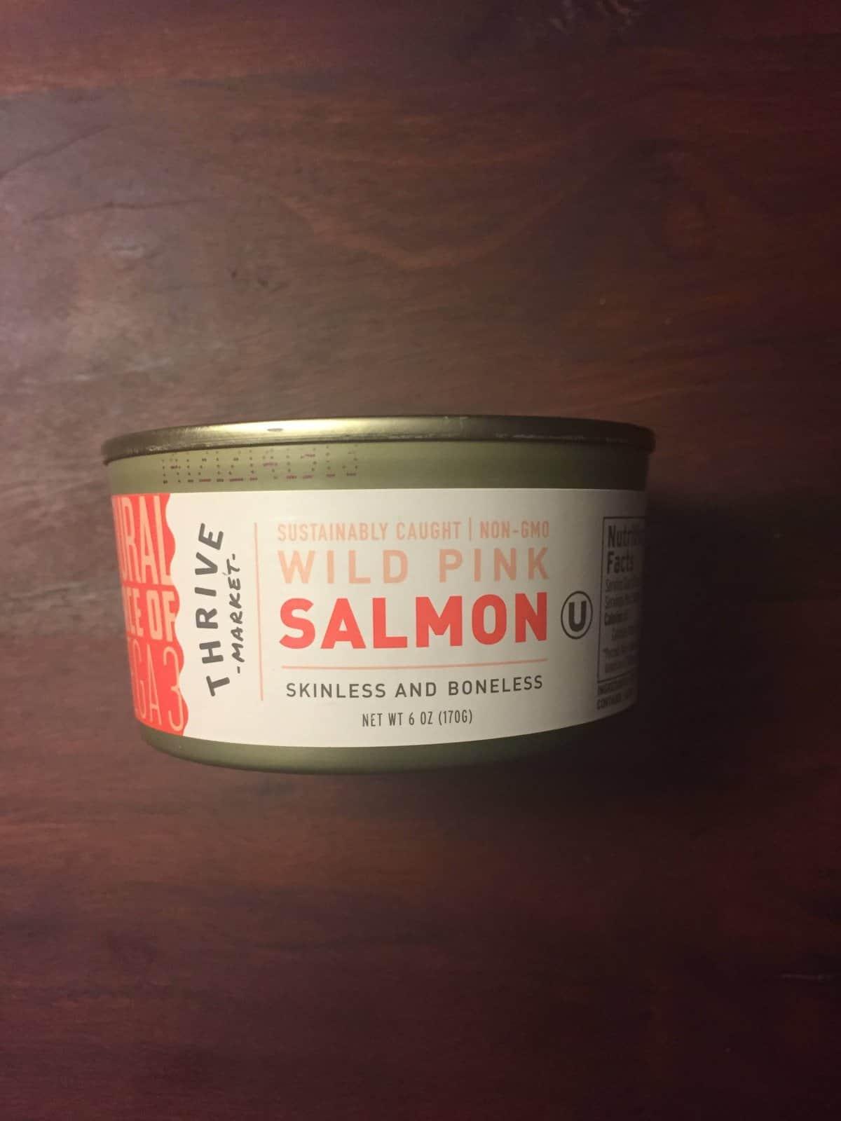 Thrive Market brand Wild Pink Salmon