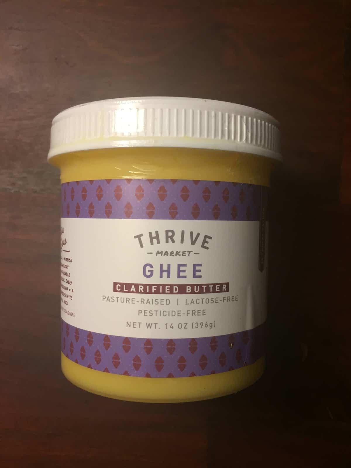 Thrive Market brand ghee