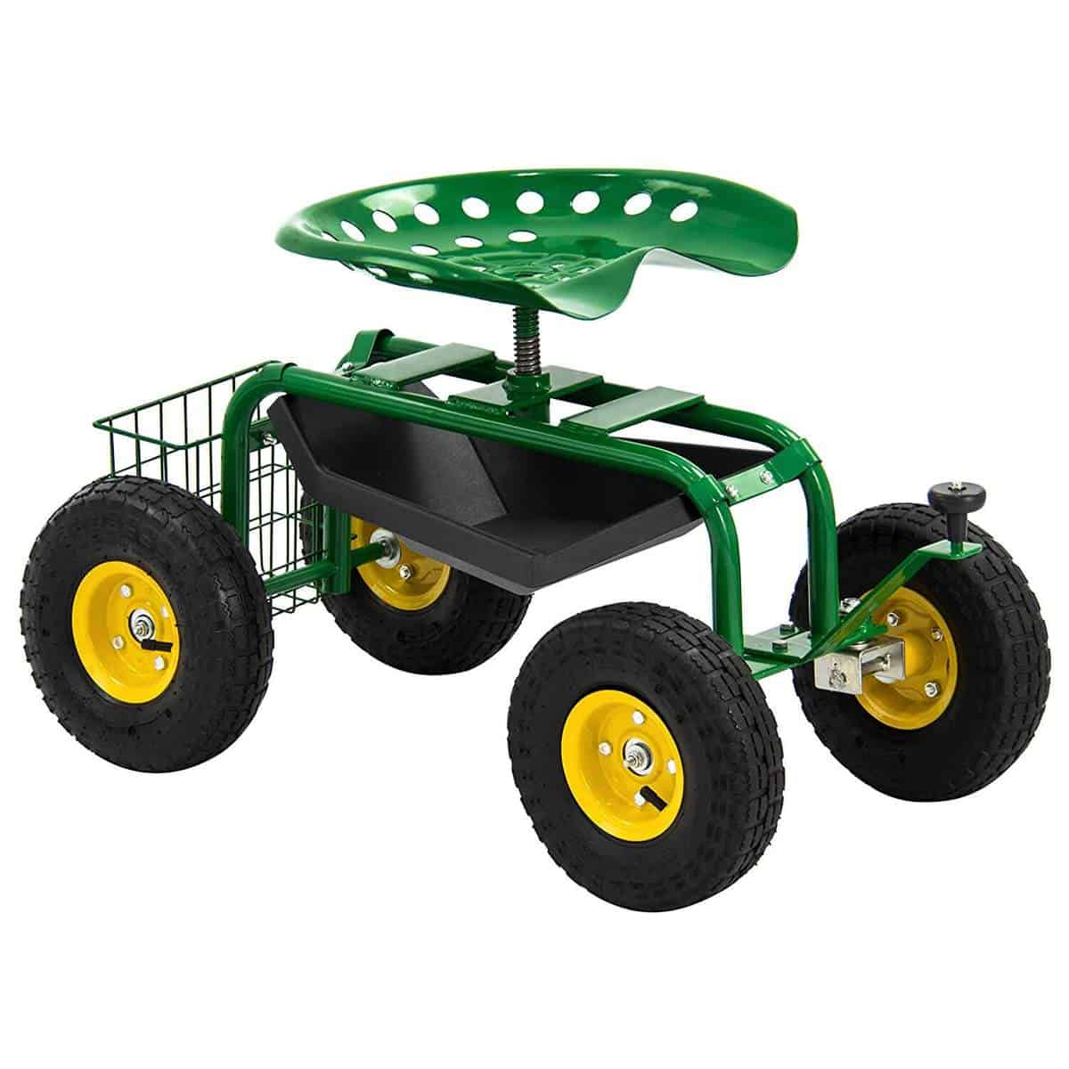 Best Choice Products Garden Cart Rolling Work Seat