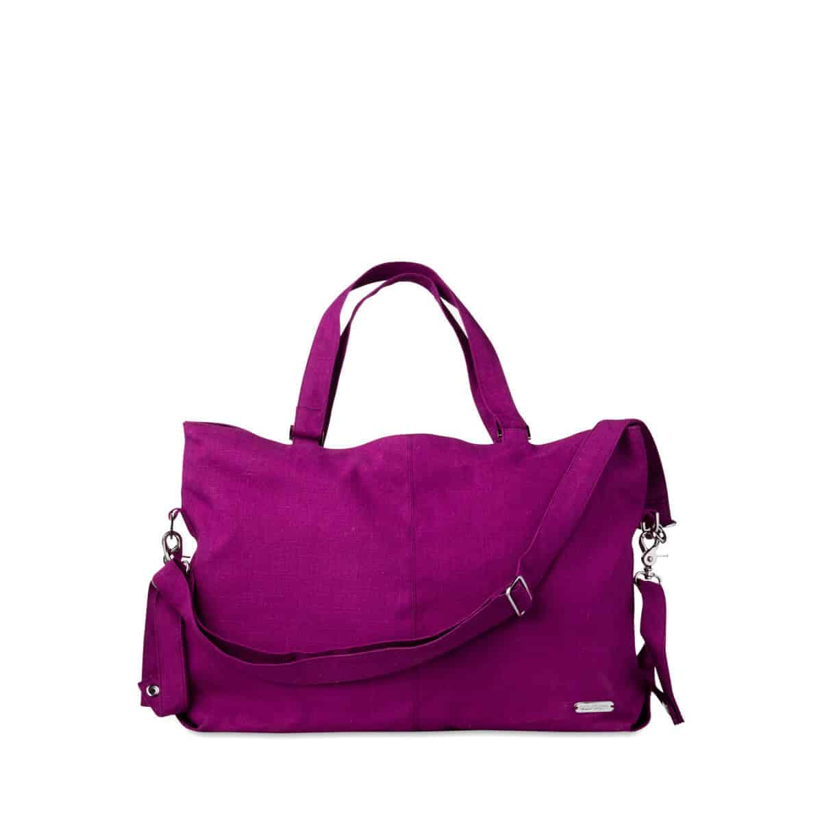 Linen Mom Carryall Bag, Orchid