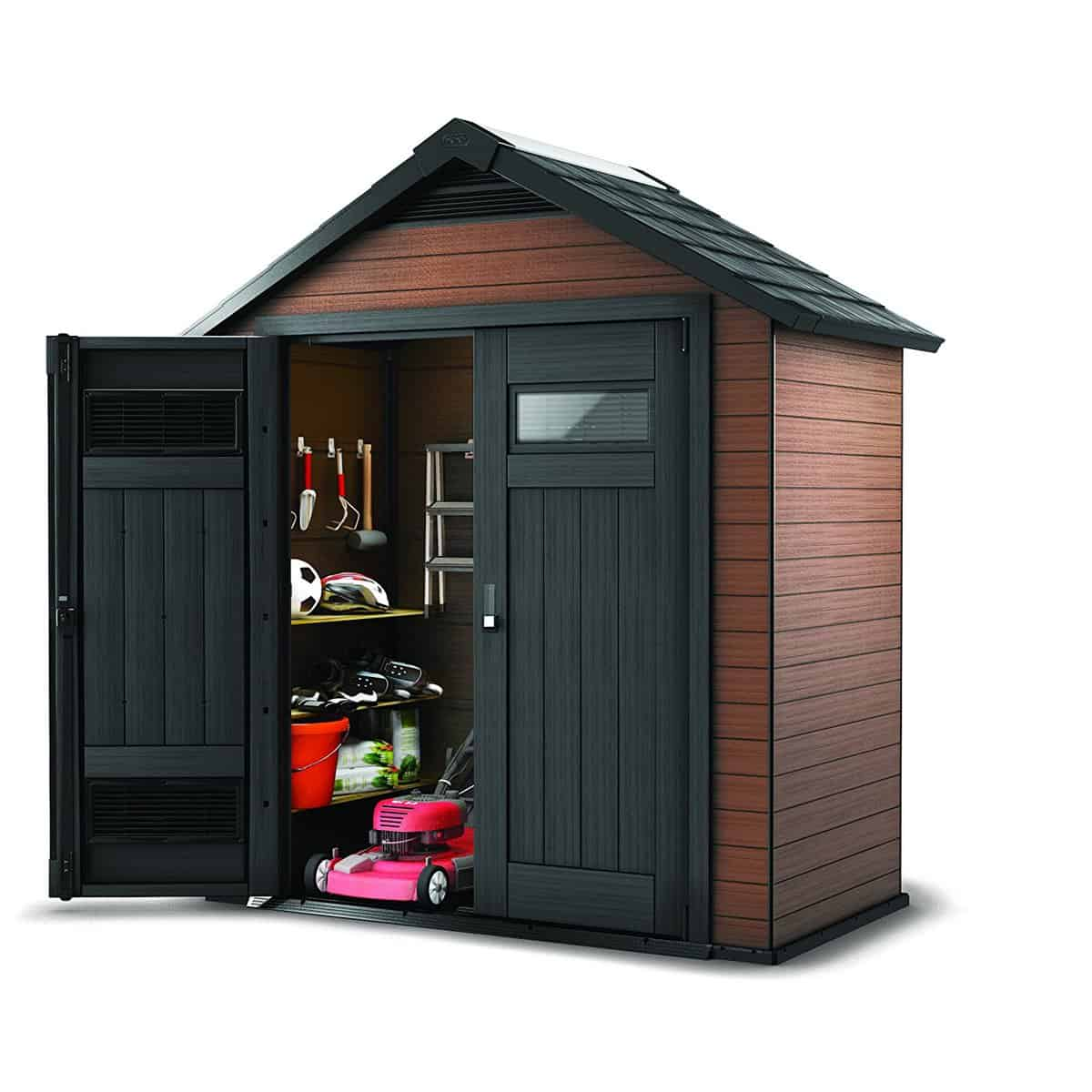 Keter Fusion Wood and Plastic Storage Shed