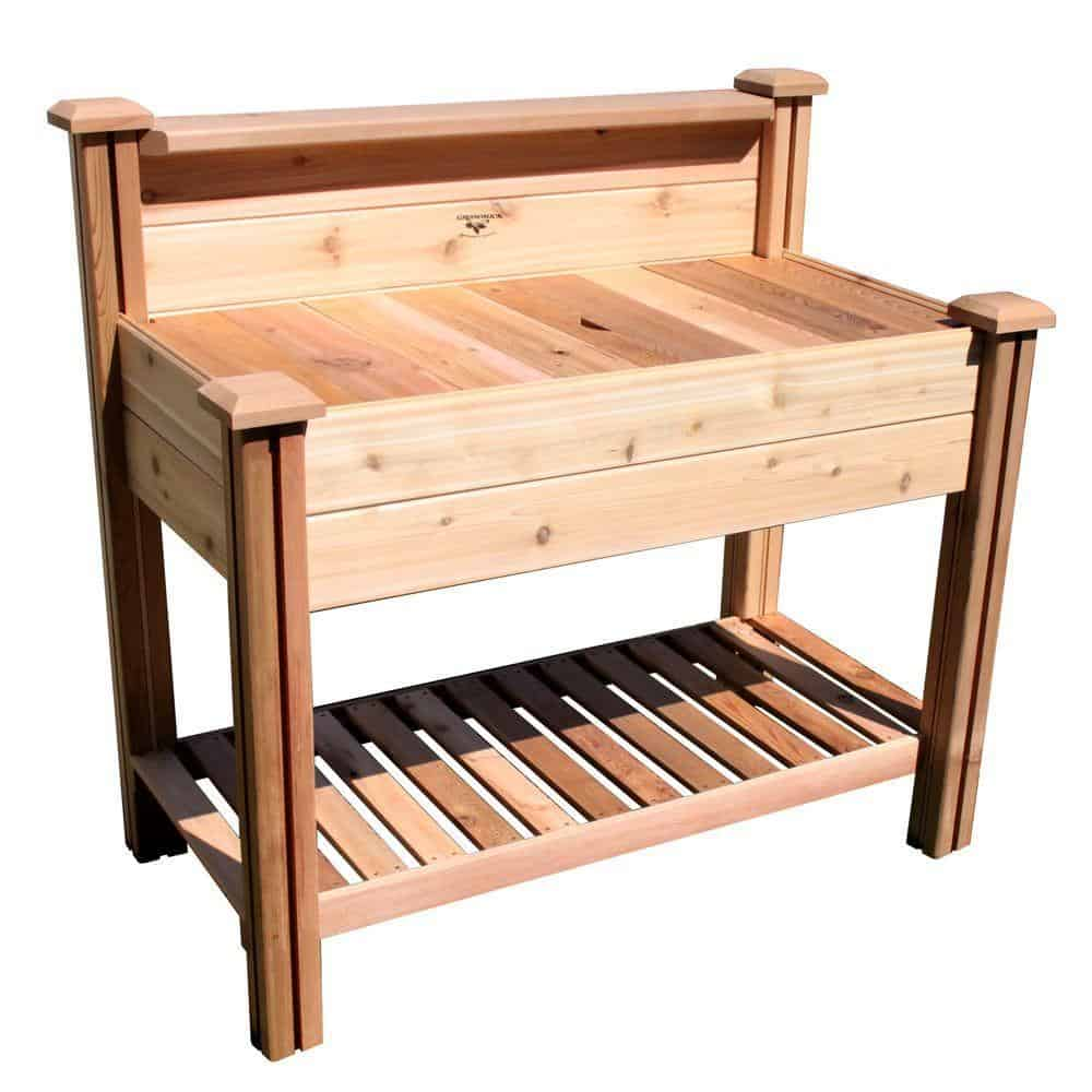 12. Potting Bench with Shelves