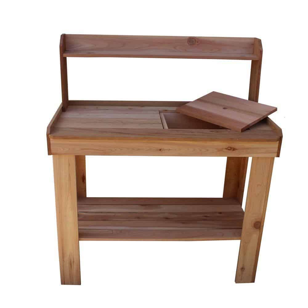 13. Western Red Cedar Potting Bench