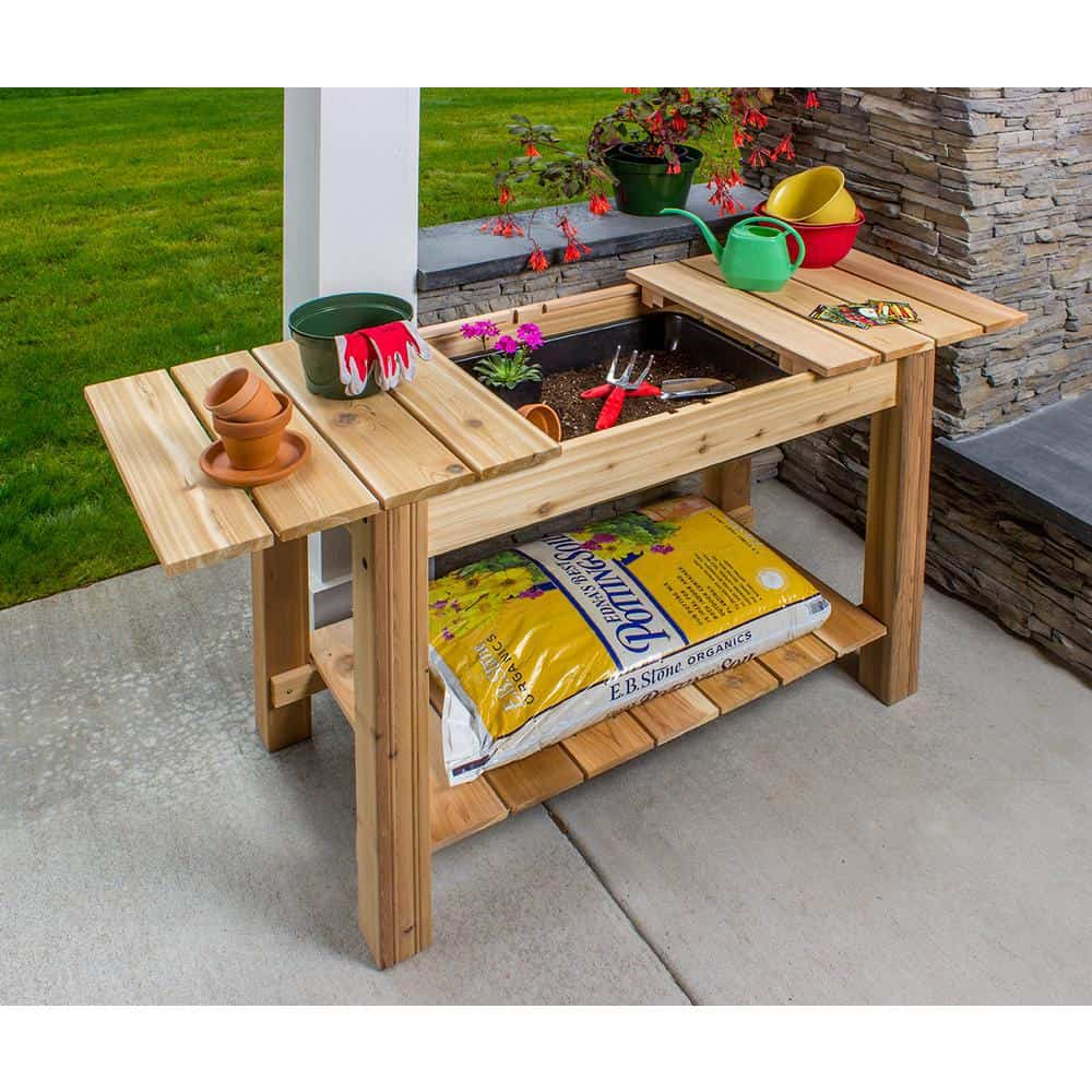 6. Cedar Potting Bench